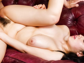 Big titty Azusa Nagasawa squeezes her full tits together so she can feel a huge dick inside
